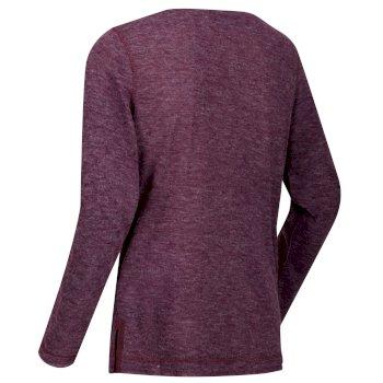 Frayda leichtes Wollshirt für Damen Pflaume