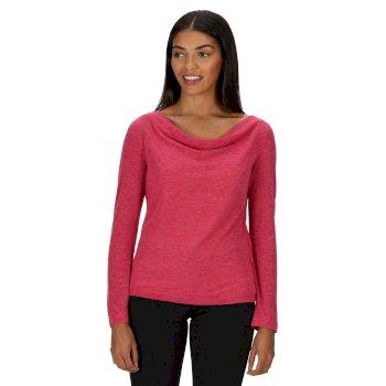 Frayda leichtes Wollshirt für Damen Rosa