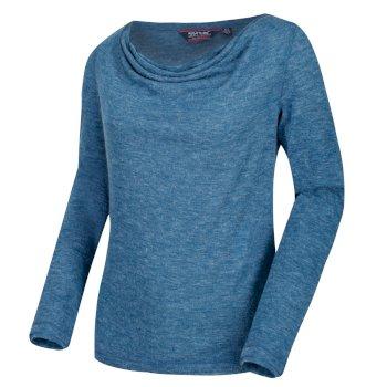 Frayda leichtes Wollshirt für Damen Opalblau