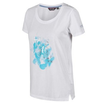 Regatta Women's Filandra III Graphic T-Shirt - White Silver