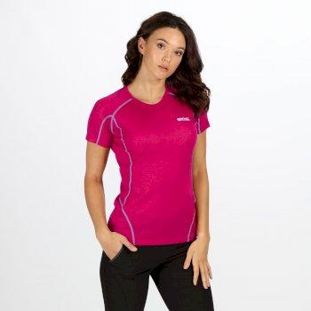 Tornell - Damen T-Shirt - super weich dunkelrot
