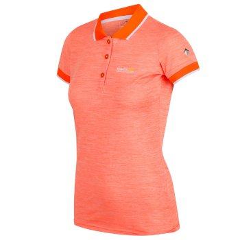 Remex II Damen-T-Shirt mit Polokragen Shock Orange