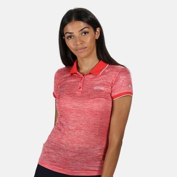 Remex II Damen-T-Shirt mit Polokragen Rot
