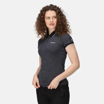 Remex II Damen-T-Shirt mit Polokragen Schwarz