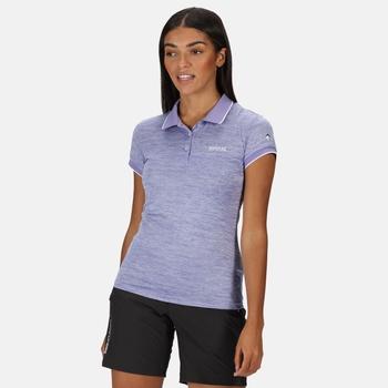 Remex II Damen-T-Shirt mit Polokragen Lila