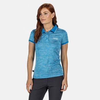 Remex II Damen-T-Shirt mit Polokragen Blau