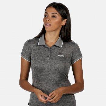 Remex II Damen-T-Shirt mit Polokragen Grau