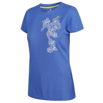 Fingal IV schnell trocknendes Damen-T-Shirt mit Print blau