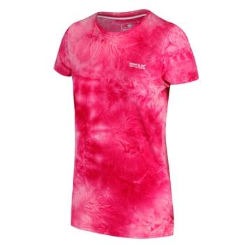 Fingal IV schnell trocknendes Damen-T-Shirt mit Print neon-pink in Batikoptik
