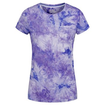 Fingal IV schnell trocknendes Damen-T-Shirt mit Print blau in Batik-Optik