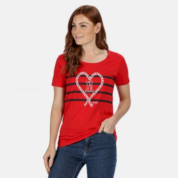 Kimberley Walsh Filandra IV Graphic T-Shirt - True Red Heart Print