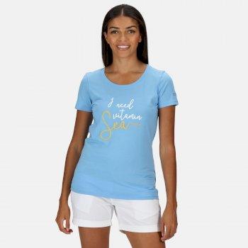 Regatta Women's Filandra IV Graphic T-Shirt - Blue Skies Sea Print