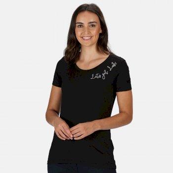Filandra IV Graphic T-Shirt für Damen Schwarz