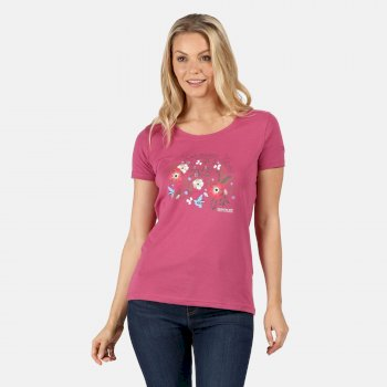 Regatta Women's Filandra IV Graphic T-Shirt - Violet Flower Print