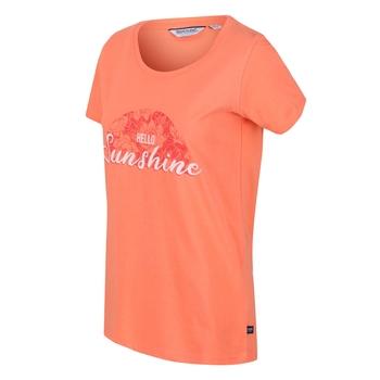 Filandra IV Graphic T-Shirt für Damen Orange