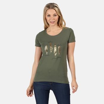 Filandra IV Graphic T-Shirt für Damen Grün