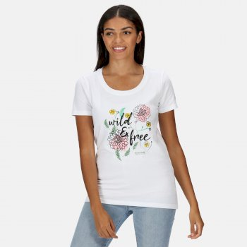 Regatta Women's Filandra IV Graphic T-Shirt - White Wild Print