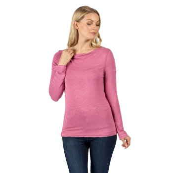 Regatta Women's Frayler Long Sleeved T-Shirt - Violet