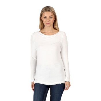 Regatta Women's Frayler Long Sleeved T-Shirt - White
