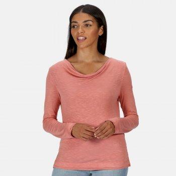 Frayler Langarmshirt für Damen Rosa