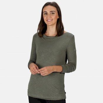 Frayler Langarmshirt für Damen Grün