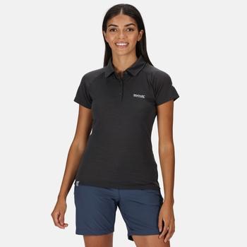 Kalter Polo-Shirt für Damen Grau