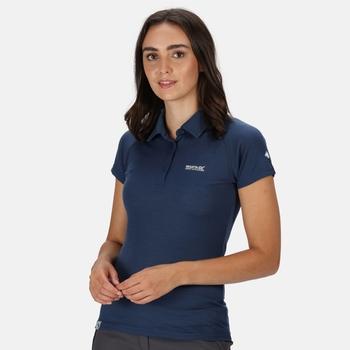 Kalter Polo-Shirt für Damen Blau