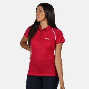 Kalter Polo-Shirt für Damen Rosa