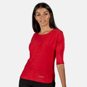 Regatta Women's Pulser 3/4 Sleeve T-Shirt - Dark Cerise