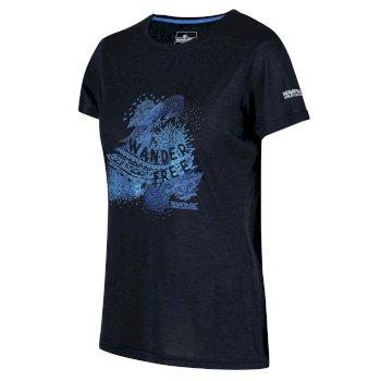 Fingal V Graphic T-Shirt für Damen Blau