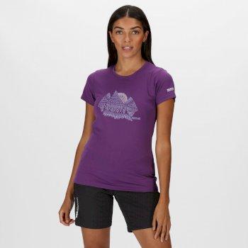 Fingal V Graphic T-Shirt für Damen Lila