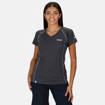 Devote Active T-Shirt für Damen Grau