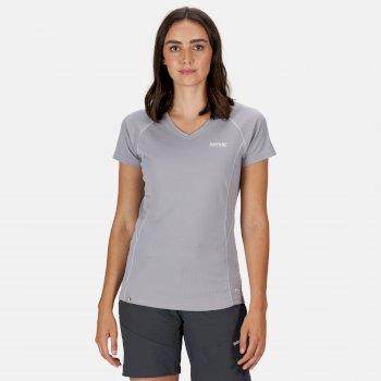 Devote Active T-Shirt für Damen Grau