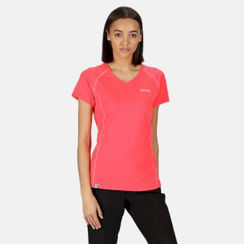 Devote Active T-Shirt für Damen Rosa