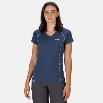 Devote Active T-Shirt für Damen Blau