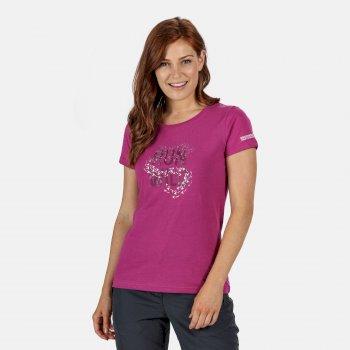 Breezed Graphic T-Shirt für Damen Violett