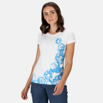 Breezed Graphic T-Shirt für Damen Weiß