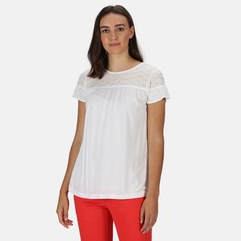 Regatta Women's Abitha Short Sleeved Broiderie T-Shirt - White