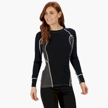 Beru - Damen Baselayer-Shirt Navy/Magnetgrau
