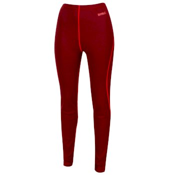 Regatta Women's Zimba Merino Wool Base Leggings - Tibetan Red