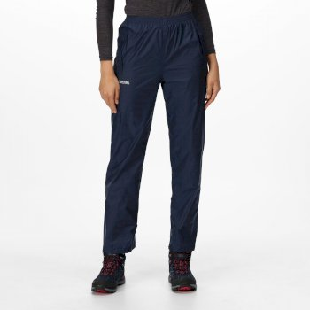 Regatta Women's Pack It Breathable Waterproof Packaway Overtrousers Midnight Navy