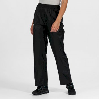 Regatta Women's Pack It Waterproof Overtrousers Black