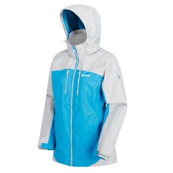 Regatta Women's Calderdale II Waterproof Shell Jacket - Fluro Blue Light Steel
