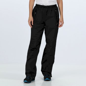 Regatta Women's Amelie III Waterproof Overtrousers - Black