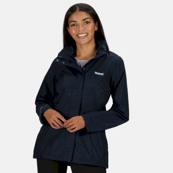 Regatta Women's Daysha Lightweight Waterproof Jacket with Concealed Hood Navy