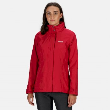 Regatta Women's Daysha Lightweight Waterproof Jacket with Concealed Hood Dark Cerise