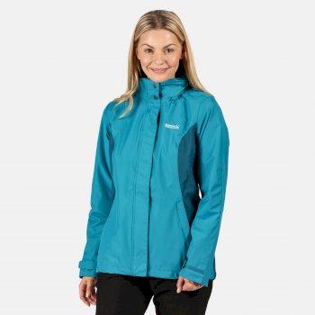 Daysha leichte, wasserdichte Walkingjacke mit versteckter Kapuze für Damen Blau