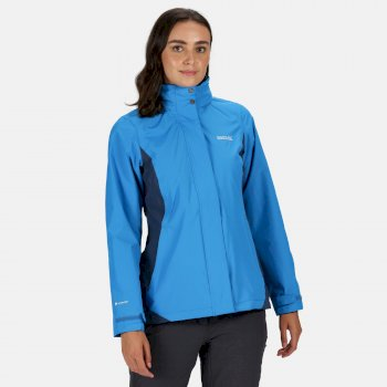 Regatta Women's Daysha Lightweight Waterproof Walking Jacket with Concealed Hood - Blue Aster Dark Denim