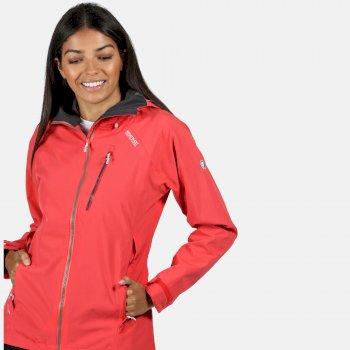 Birchdale wasserdichte Walkingjacke mit Kapuze für Damen Rot