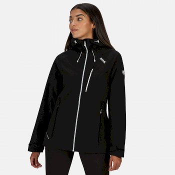 Regatta Women's Birchdale Waterproof Hooded Walking Jacket - Black White